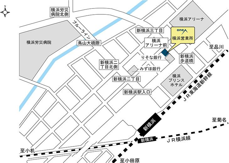 [地図]横浜営業所